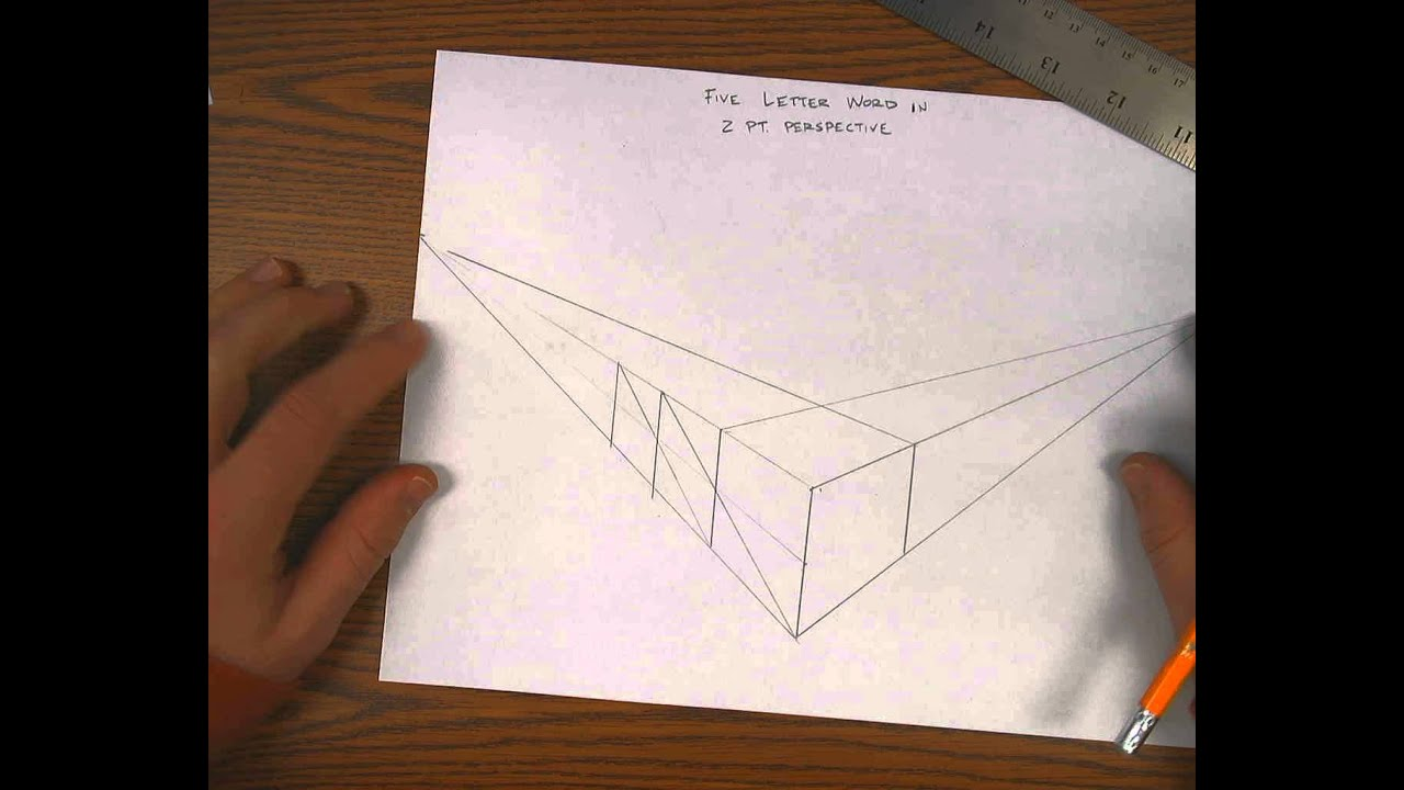 2 point perspective five letter word 12 youtube