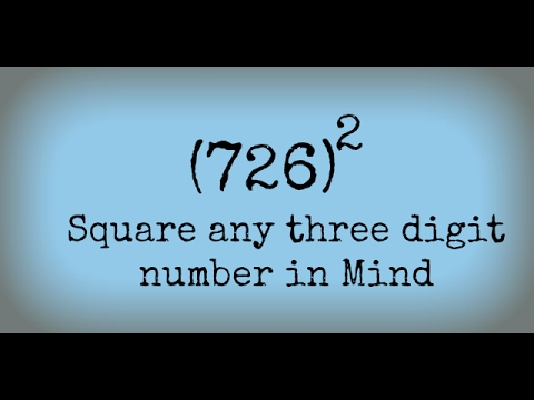 Square any three digit number in Mind | Vedic math tricks | Fast ...