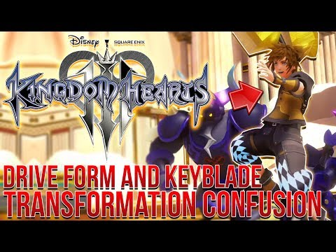 Kingdom Hearts 3 - Drive Form and Keyblade Transformation Confusion