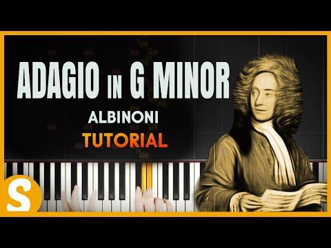 How to play ADAGIO in G Minor  Albinoni Easy  Synthesia Piano Tutorial HD