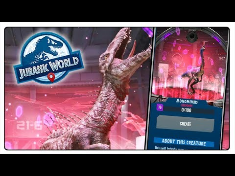 MONOMIMUS I TRYOSTRONIX W JURASSIC WORLD ALIVE