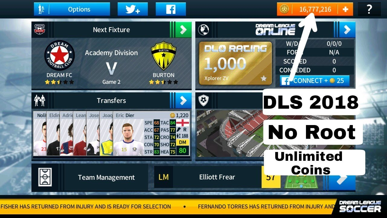 dream league soccer con trucchi