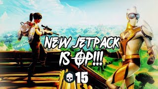 """Fortnite Battle Royale - New Item The """"JetPack"""" Is Op!! No Such Thing As Fall Damage!!"""