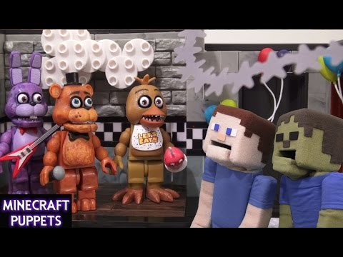 Five Nights at Freddy's fnaf McFarlane toys lego construction set Show  Stage unboxing review