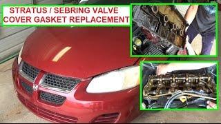 Dodge Stratus Chrysler Sebring 2 4 Valve Cover Gasket Replacement 2000 2006