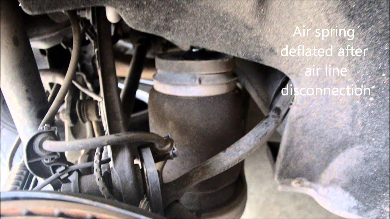 Replacing Mercedes Gl450 Rear Shock And Air Spring Youtube