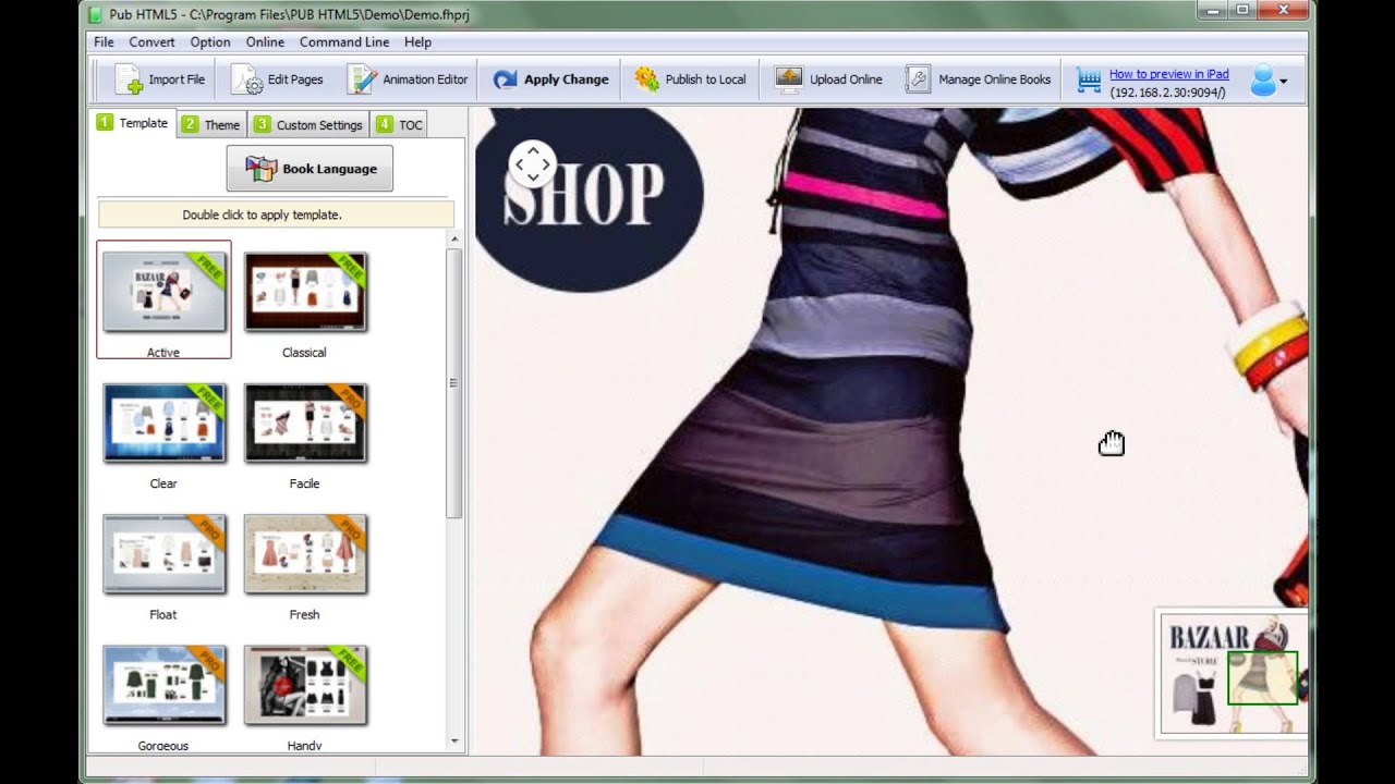 Pub html5 100 free html5 digital catalog software to for Create a program online