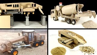 TOP 4 Unique Creations from Cardboard with Construction Truck Toys