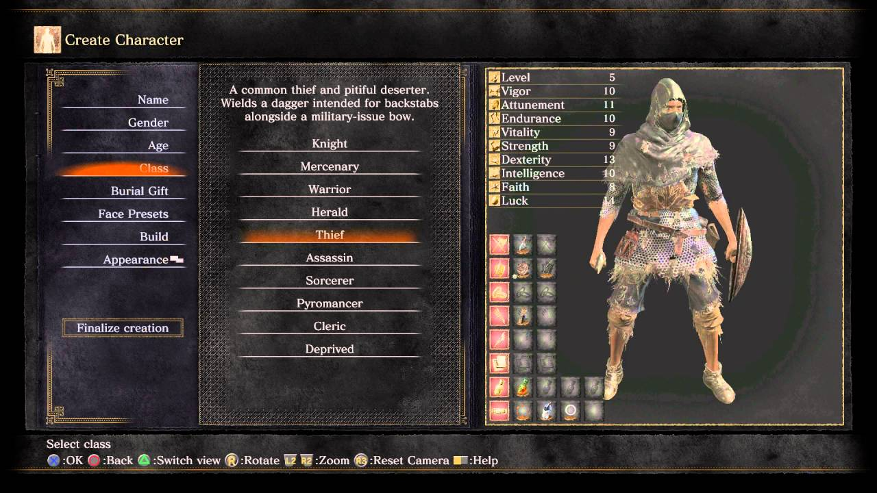 Deprived Dark Souls  Build