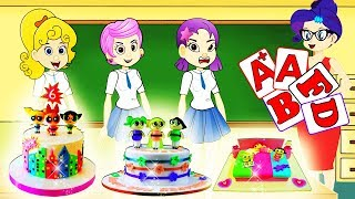 ✅Bubbles Guppies The Funny Story And Powerpuff Girls Cake  Making Class |Zilo MLP Funs