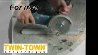 Twin-Town Enterprises---vacuum brazed diamond multi cutter saw blade --- iron cutting