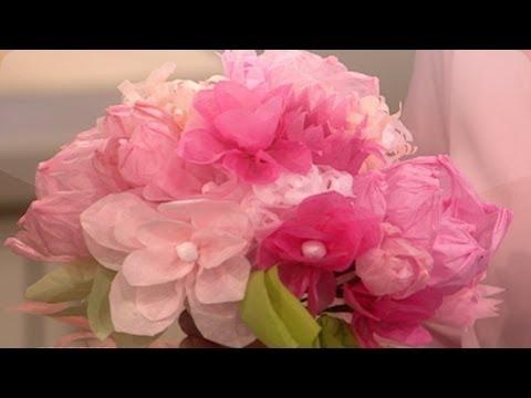 Paper Flower Wedding Craft  DIY Weddings  Martha Stewart