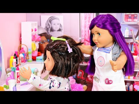 American Girl Doll Spa and Hair Salon Doll Room Tour
