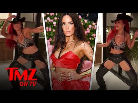 Halsey Twerks in Assless Chaps to Lil Nas X's 'Old Town Road' | TMZ TV