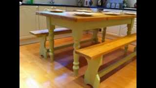 6ft Seats 6+  Shabby Chic Hand Painted Farmhouse Kitchen / Dining Table