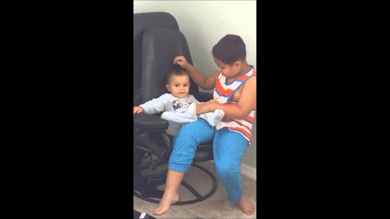 Kids On Massage Chair