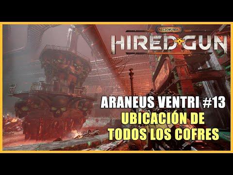 Necromunda: Hired Gun guía - Dónde encontrar los 4 cofres de Araneus Ventri - Capítulo 13