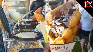 Quick Bubble Waffle Maker | Yummy Waffles Served In A Cone | Street Food Deserts