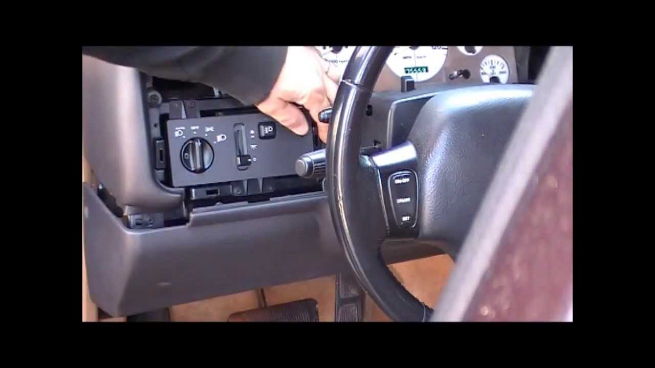 how to replace a 1996 Jeep Grand Cherokee Limited Headlight Switch  YouTube