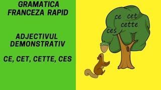 Adjectivul demonstrativ in franceza ( ce, cet, cette, ces ) - Gramatica franceza (2018)