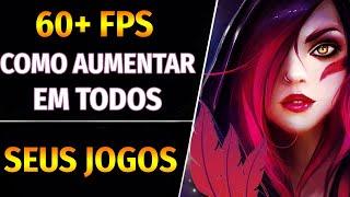 Como aumentar o FPS em todos os jogos SUPER RÁPIDO e FÁCIL! (LOL, CS, FORTNITE, APEX ETC)
