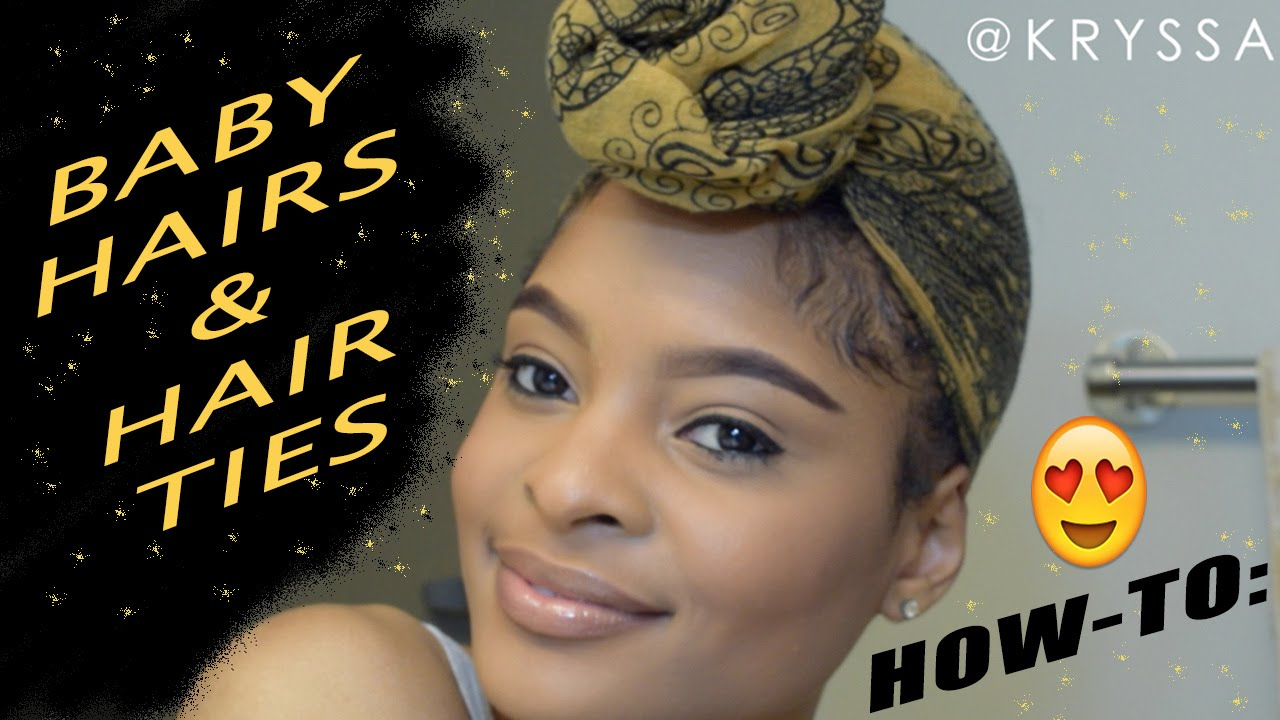How To Lay Baby Hairs Tie A Hair Tie Headwrap Turban Styles