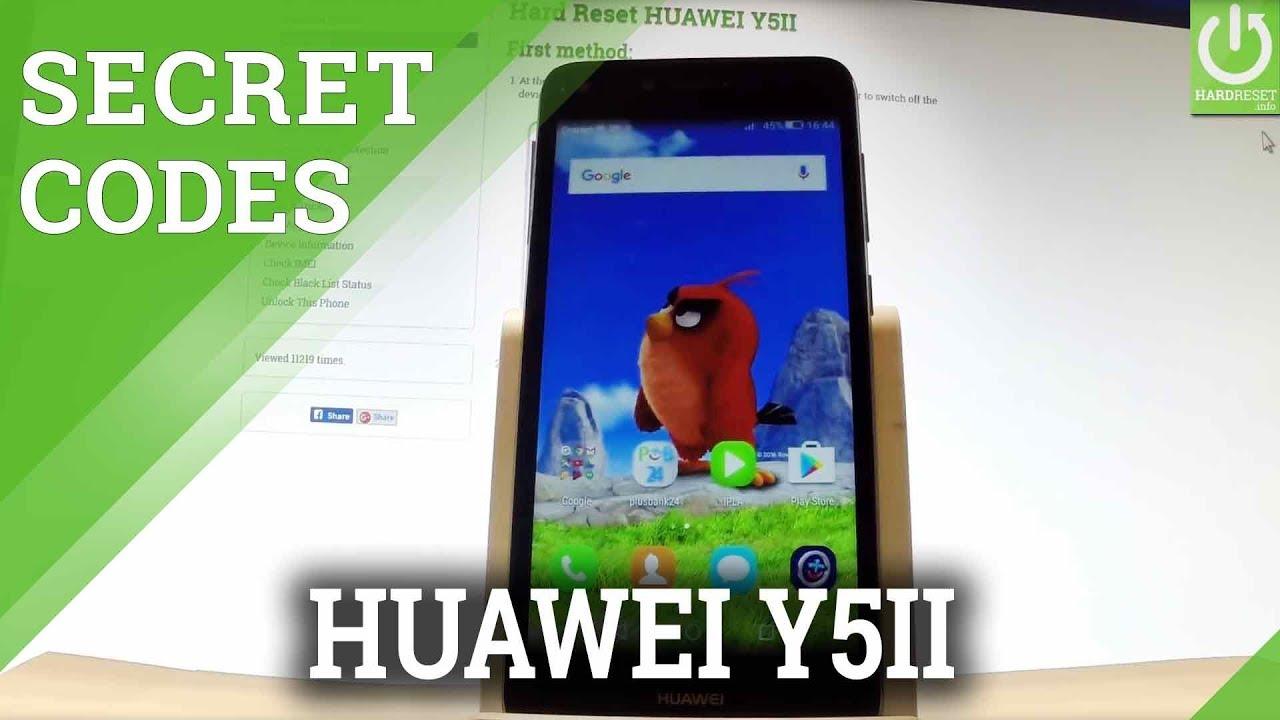 CODES in HUAWEI Y5II - Advanced Settings / Tips & Tricks