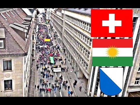 iIlegal protest Zurich - Syria War #DefendAfrin Kurdistan  Switzerland