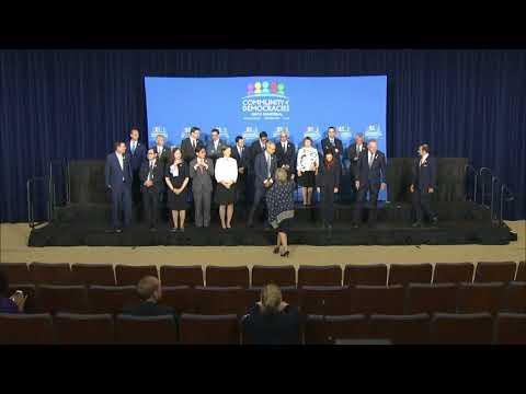Secretary Tillerson Participates in the Community of Democracies Photo