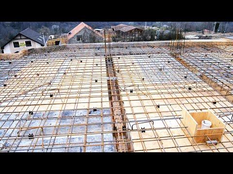 Армирование монолитного перекрытия  Заливка бетона