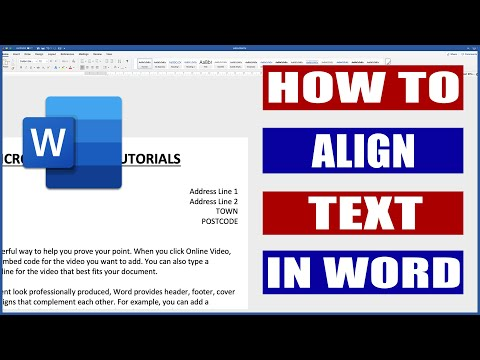 Align Text In Word Left, Right And Centre | Microsoft Word Tutorials