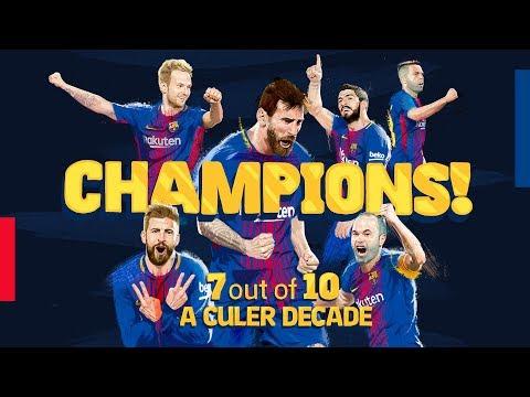 La liga champions 2017 - 2018 | a culer decade #7hechamp10ns