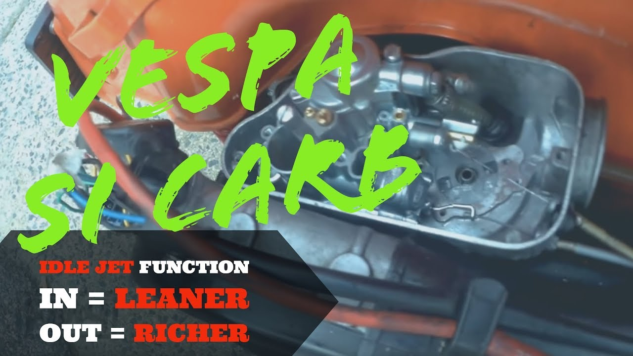 vespa IDLE JET: in=LEANER out= RICHER - SI CARB setting #2/5 - FMPguides