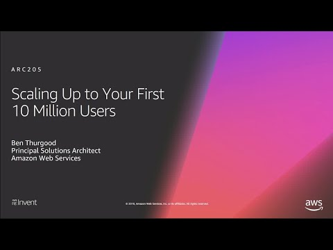 AWS re:Invent 2018: [REPEAT 1] Scaling Up to Your First 10 Million Users (ARC205-R1)