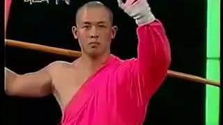 Shaolin Monk Vs Taekwondo Master (part 2) (HQ) (Amazing Blindfolded Spinning Kick)