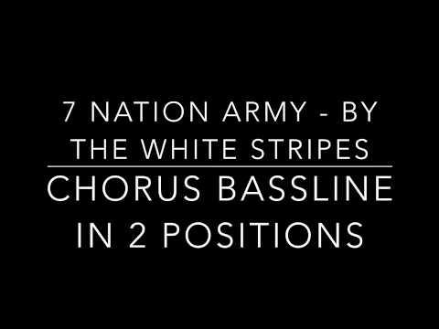 7 Nation Army (Chorus Bassline) - Tutorial and notation