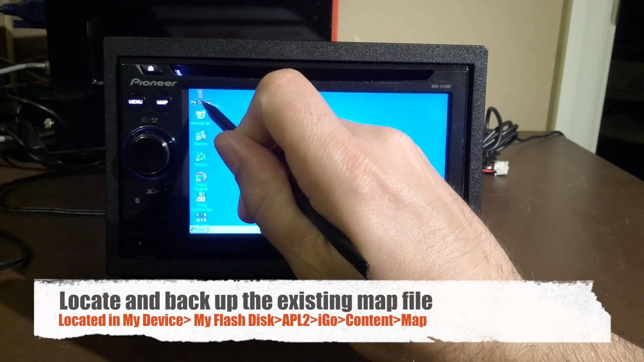 tech tip how to manually update nav maps on a pioneer avic x710bt