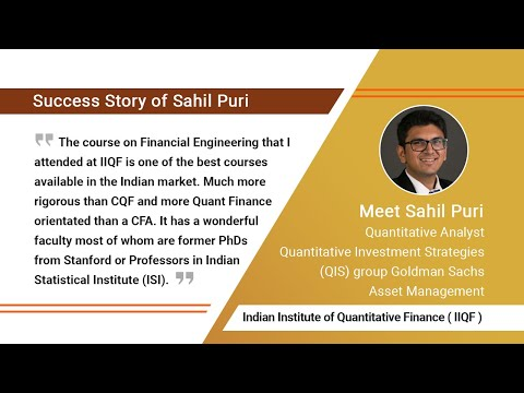 IIQF Financial Engineering Student Story