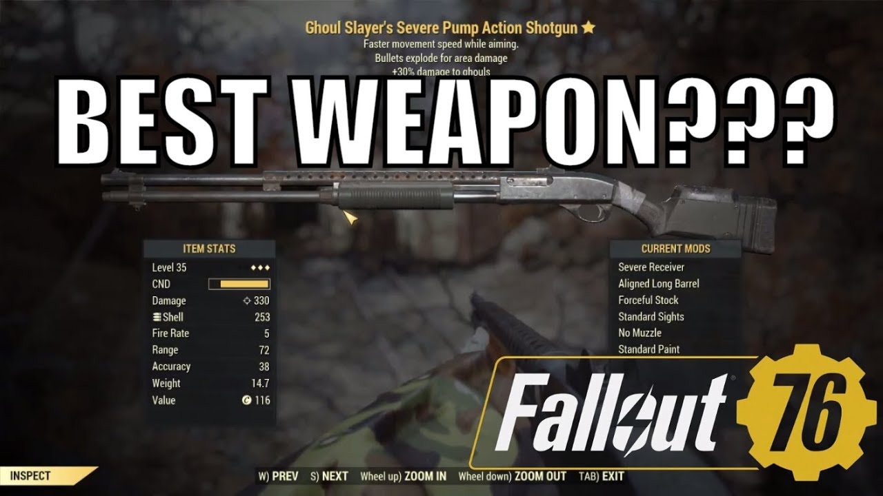 Fallout 76 Best Weapons