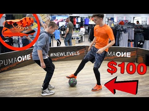 I PLAYED IN A CRAZY NUTMEG CHALLENGE FOR $100 FOOTBALL BOOTS !?