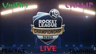 ROCKET LEAGUE (RLCS Training + CHAMP Rank) #3 | PS4 Gameplay | LIVE Stream