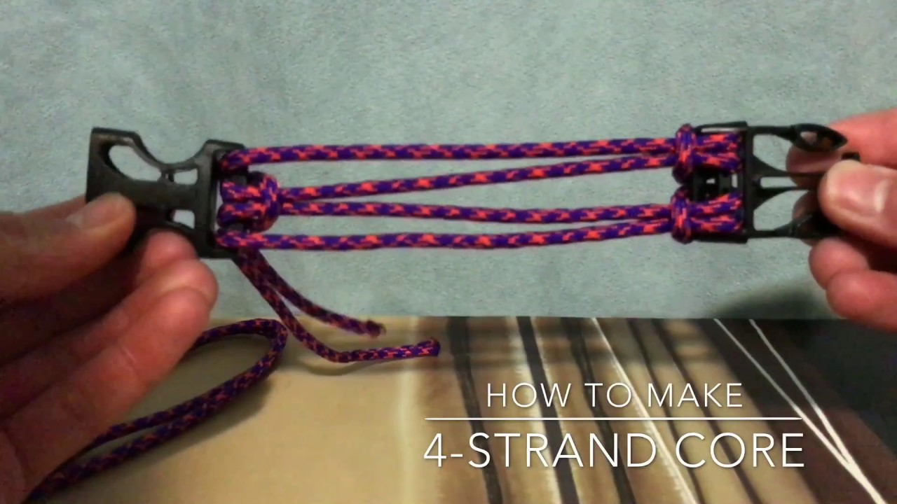 How to weave from 4 strands