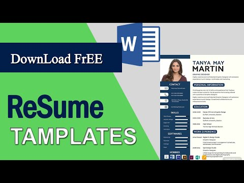 How To Download Free Resume Templates In Microsoft Word