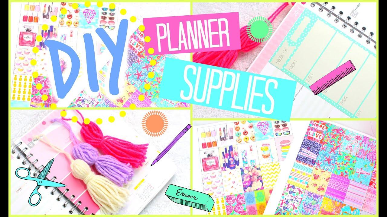 DIY Planner Stickers, Tassels & More!   #PrettyPlanning - YouTube