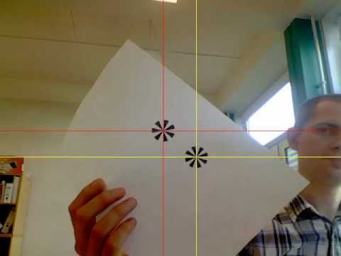 Example of marker tracking using python and opencv