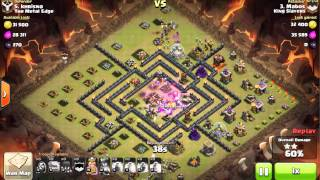 Clash of clans - TH9 - 17 Witches GOWIWI - 3 Stars Clan War Attack