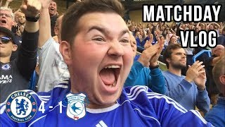 CHELSEA 4-1 CARDIFF | MATCH DAY VLOG