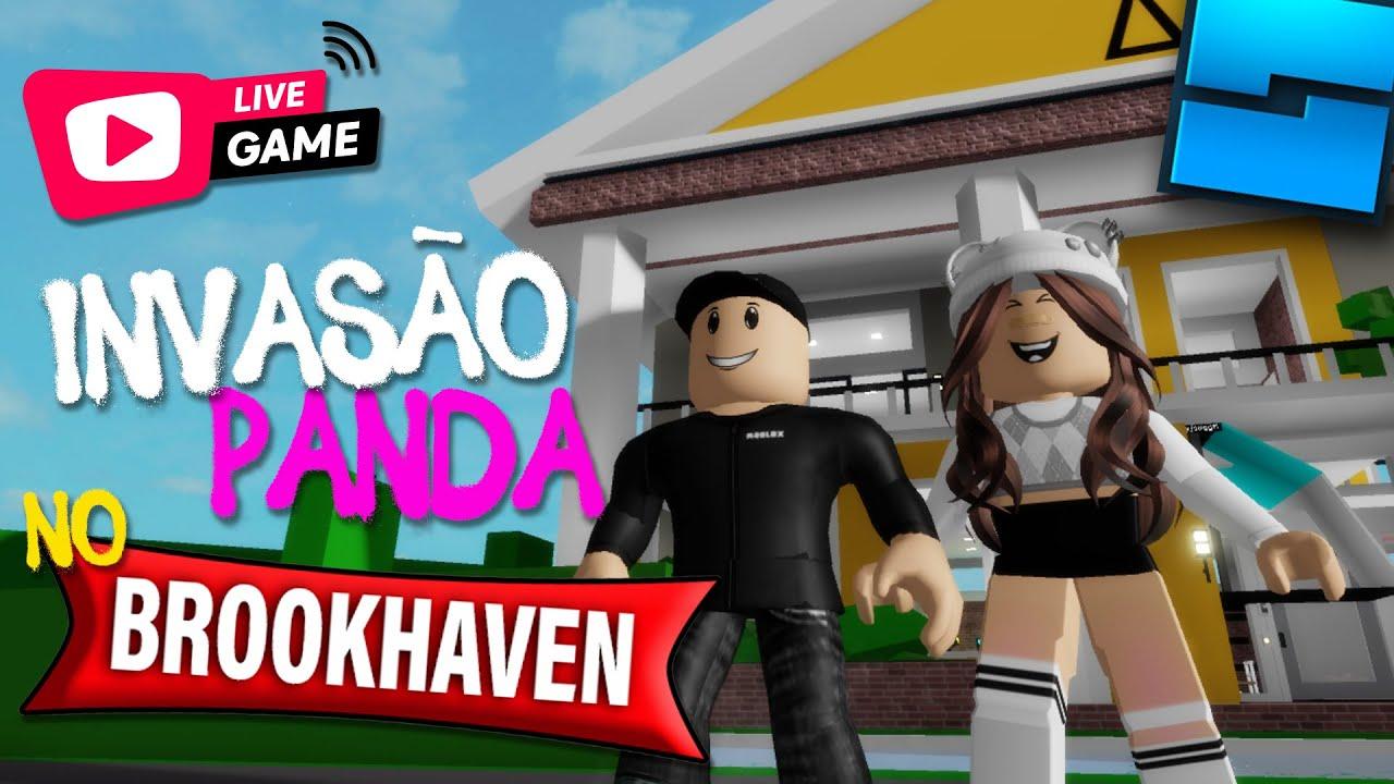 ROBLOX   INVASÃO PANDA NO BROOKHAVEN LIVE GAME