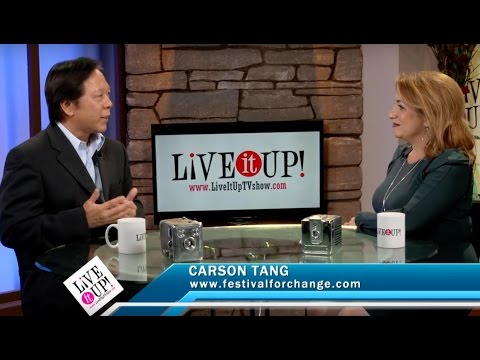Live it Up with Donna Drake and Carson Tang talk about the Festival For Change in April of 2017