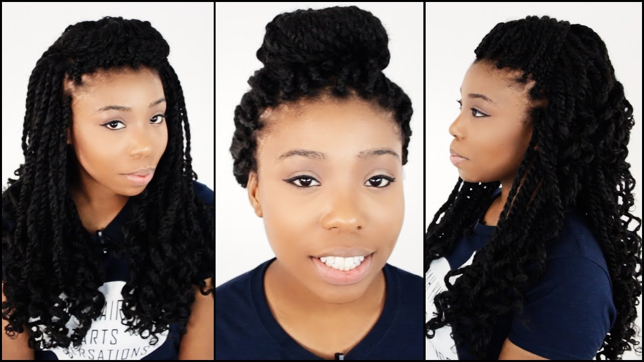 Kinky Twist Crochet Hair Styles : Hairstyles For Mrs Rutters Perimeter Crochet Kinky Twists Tutorial ...